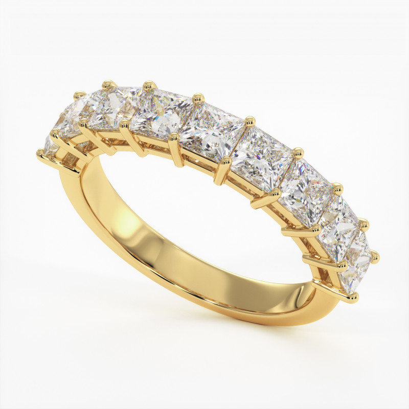 Solitaire Diamant SATINE Or Blanc 2.10 Carat
