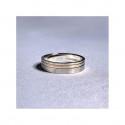 Bague Haute Joaillerie RUE DE LA PAIX en Or Blanc 18K, 750/1000 sertie de diamants noirs 1.51 carats