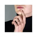 Bague Haute Joaillerie RUE DE LA PAIX en Or Blanc 18K, 750/1000 sertie de saphirs bleus 1.51 carats