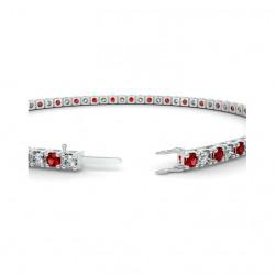 Alliance Diamants verts 4 Grains Or Blanc 1.00 Carat