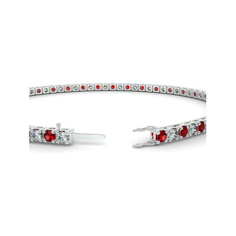 Alliance Diamants verts 4 Grains Or Blanc 1.00 Carat