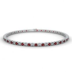 Alliance Diamants violets 4 Grains Or Blanc 1.00 Carat