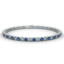 Alliance Diamants noirs 4 Grains Or Blanc 0.25 Carat