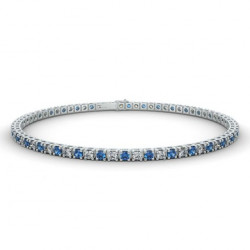 Alliance Diamants noirs 4 Grains Or Blanc 0.50 Carat