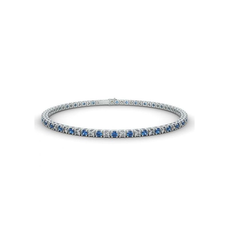 Alliance Diamants noirs 4 Grains Or Blanc 0.50 Carat
