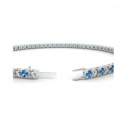 Alliance Diamants bleus 4 Grains Or Blanc 0.50 Carat