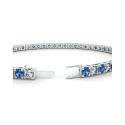 Alliance Diamants verts 4 Grains Or Blanc 0.50 Carat