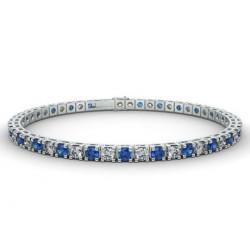 Alliance Diamants rouges 4 Grains Or Blanc 0.50 Carat