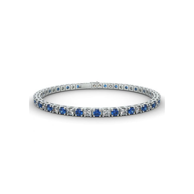 Alliance Diamants rouges 4 Grains Or Blanc 0.50 Carat