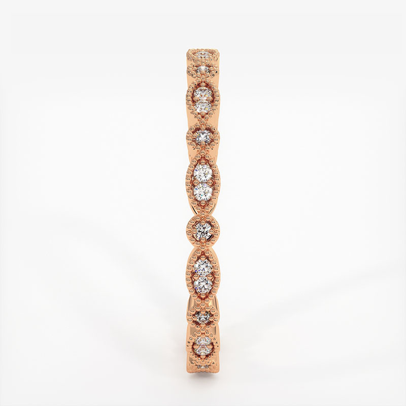 Alliance Barrettes Platine 1.00 Carat