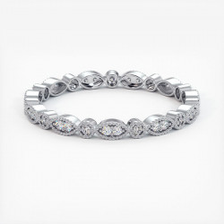 Alliance Barrettes Platine 1.50 Carats