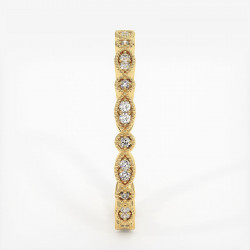 Alliance Barrettes Platine 0.50 Carat