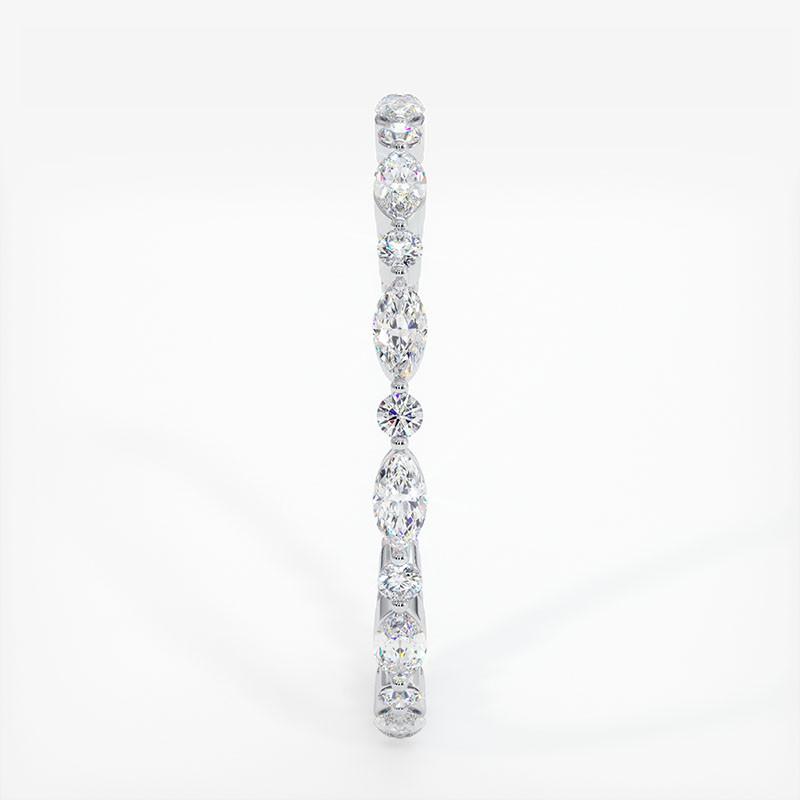 Alliance Diamants Rail Baguettes Diamants Rail toute pavée Saphirs Bleus 6.00 Carats