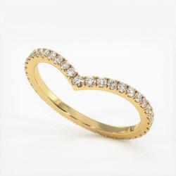 Alliance Diamants Princesses Rail Or Rose 2.00 Carats