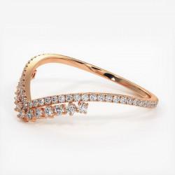 Alliance Diamants Princesses Rail Or Rose 3.00 Carats