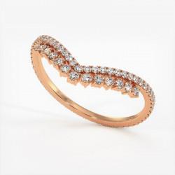 Alliance Diamants Princesses Rail Or Rose 0.50 Carat