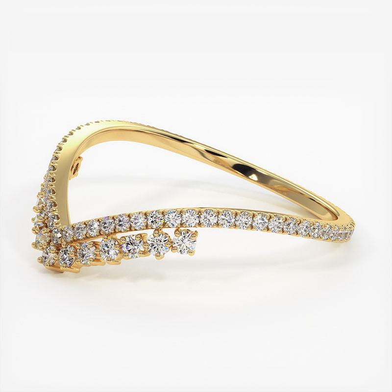 Alliance Diamants Princesses Rail Platine 2.00 Carats