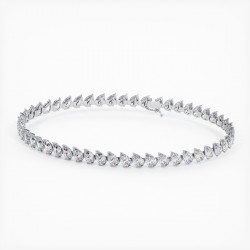 Alliance Diamants Princesses Rail Or Blanc 3.00 Carats