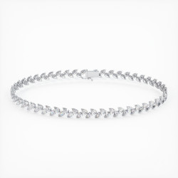 Bague Haute Joaillerie LOUIS XVI en Or Blanc 18K, 750/1000 sertie de diamants 1.50 carats