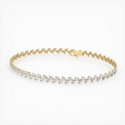 Bague Haute Joaillerie LOUIS XVI en Or Jaune 18K, 750/1000 sertie de diamants 1.50 carats