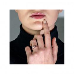 Demi Alliance Diamants Saphirs Bleus Princesses Rail Or Blanc 2.00 Carats