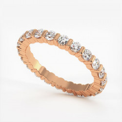 Demi Alliance Diamants Rubis Princesses Rail Or Blanc 2.00 Carats