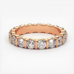 Demi Alliance Diamants Saphirs Bleus Princesses Rail Or Blanc 0.70 Carat