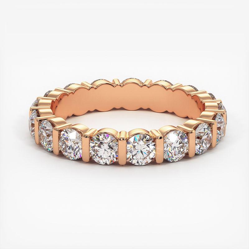 Demi Alliance Diamants Saphirs Bleus Princesses Rail Or Blanc 0.70 Carat