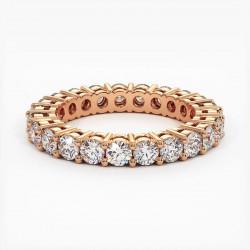Demi Alliance Diamants Saphirs Roses Princesses Rail Or Jaune 1.00 Carat