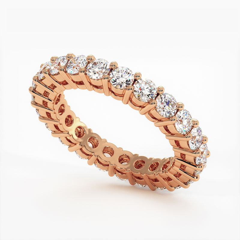 Demi Alliance Diamants Rubis Princesses Rail Or Jaune 1.00 Carat