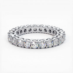 Demi Alliance Diamants Princesses Rail Or Jaune 1.50 Carats