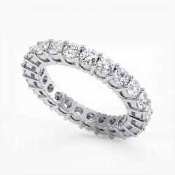 Demi Alliance Diamants Saphirs Bleus Princesses Rail Or Jaune 1.50 Carats