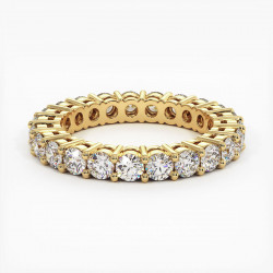 Demi Alliance Diamants Saphirs Roses Princesses Rail Or Jaune 1.50 Carats