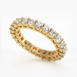 Demi Alliance Diamants Rubis Princesses Rail Or Jaune 1.50 Carats
