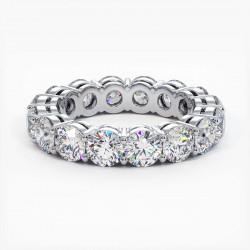 Demi Alliance Diamants Saphirs Roses Princesses Rail Or Jaune 2.00 Carats