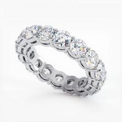 Demi Alliance Diamants Rubis Princesses Rail Or Jaune 2.00 Carats