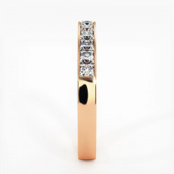 Demi Alliance Diamants Princesses Rail Or Jaune 0.50 Carat