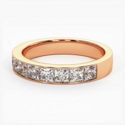 Demi Alliance Diamants bleus Rail Or Blanc 0.22 Carat