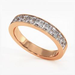 Demi Alliance Diamants verts Rail Or Blanc 0.22 Carat