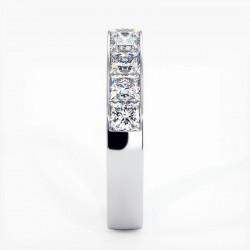 Demi Alliance Diamants violets Rail Or Blanc 0.22 Carat
