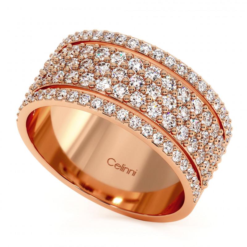 Solitaire Diamant LAURE Or Blanc Palladié 2.00 Carats