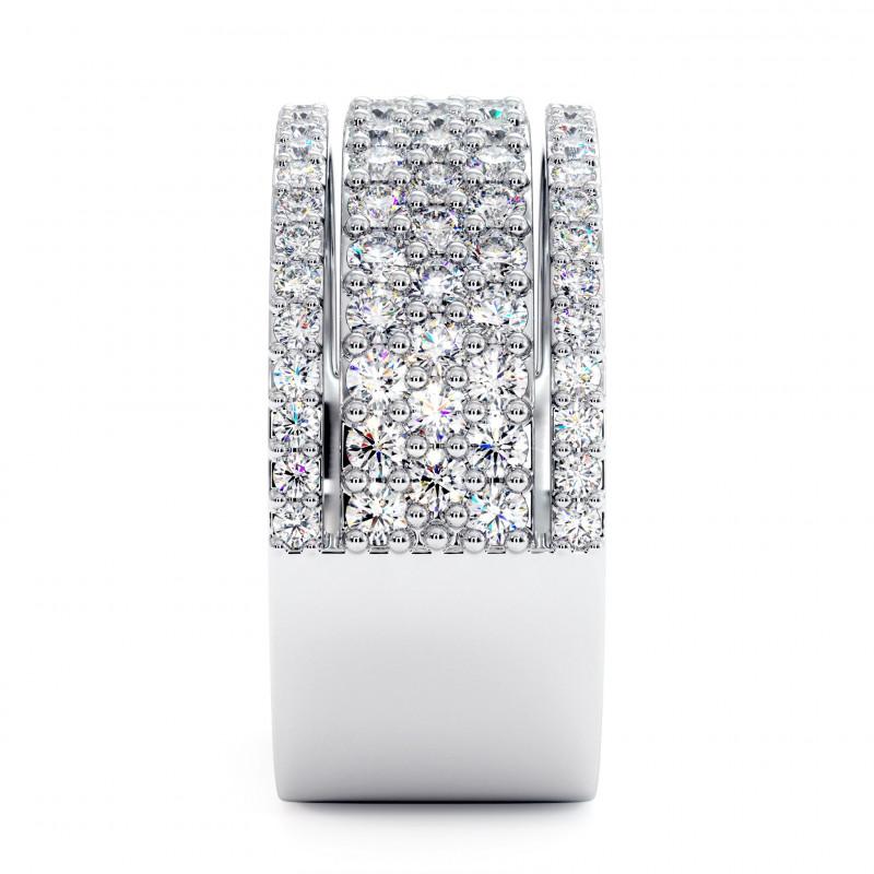 Solitaire Diamant LAURE Or Blanc Palladié 2.50 Carats