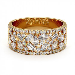 Solitaire Diamant LAURE Or Jaune 2.50 Carats