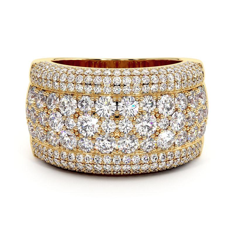Solitaire Diamant LENA Platine 2.70 Carats