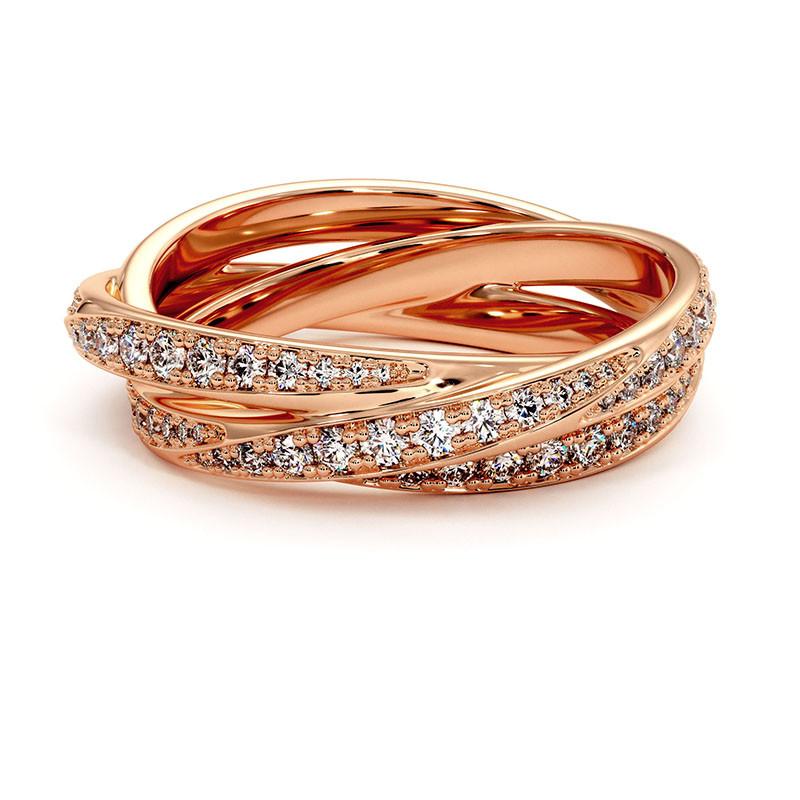 Solitaire Diamant LENA Or Blanc Palladié 2.00 Carats
