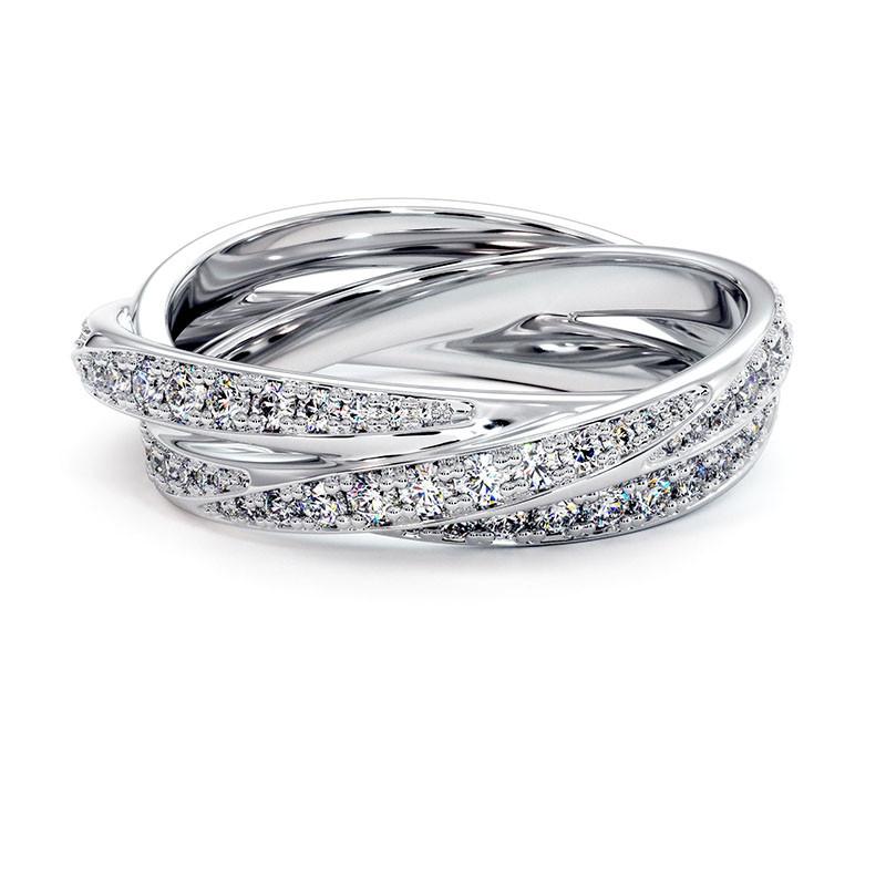 Solitaire Diamant LENA Or Blanc Palladié 2.20 Carats