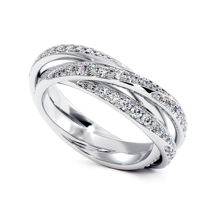 Solitaire Diamant LENA Or Blanc Palladié 2.70 Carats