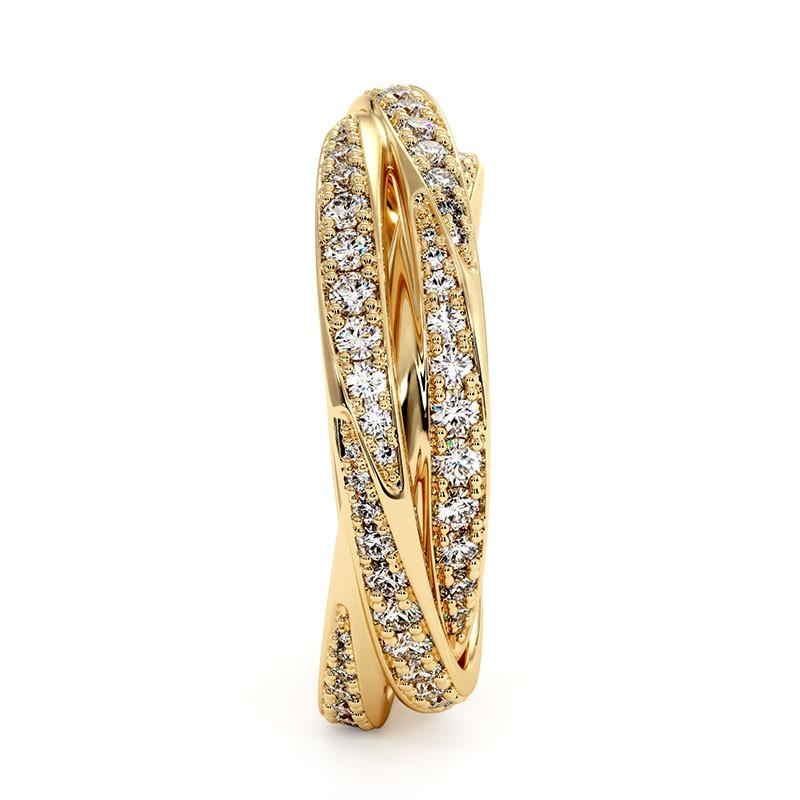 Solitaire Diamant LENA Or Jaune 1.70 Carats