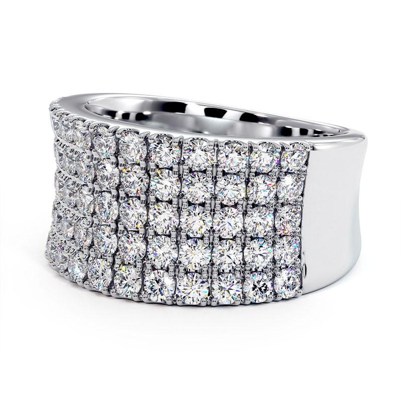 Solitaire Diamant MON AMOUR Platine 0.72 Carat