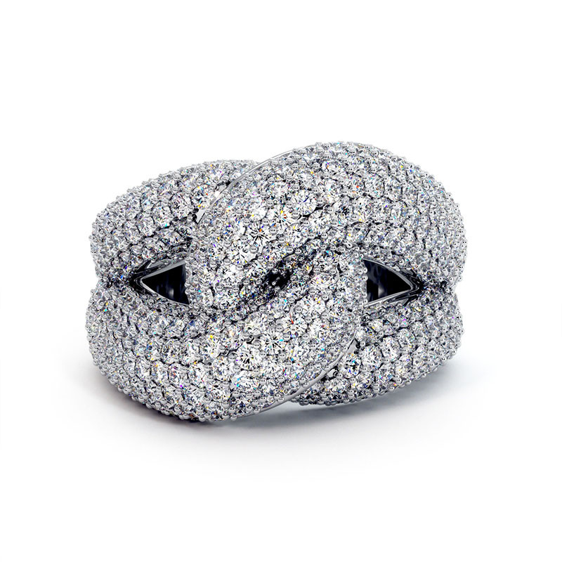 Solitaire Diamant MON AMOUR Or Blanc 2.20 Carats